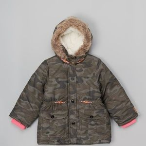 Carter's Winter Camo Jacket Fleeced Lined